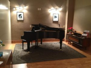 New grand piano set up and ready for lessons